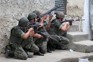 Brazilian military occupies slums