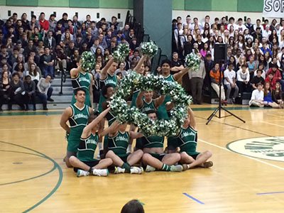 WJ Spring Pep Rally showcases spring sports and Male Poms
