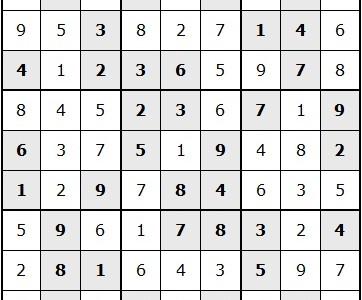 January Print Issue Sudoku Answer Key