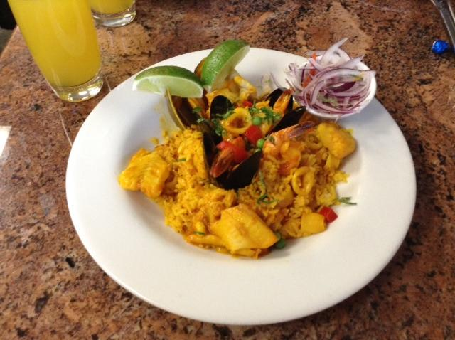This is a dish called Arroz con Mariscos from La Limena.