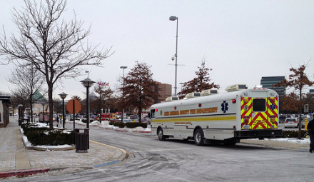 Columbia Mall  on Jan. 25 after the shooting that left three dead and five others wounded.