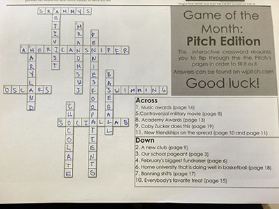 """Game of the Month"" answers from the February issue of The Pitch"