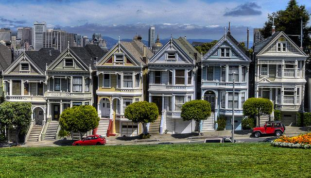 The iconic painted ladies featured in the opening credits of