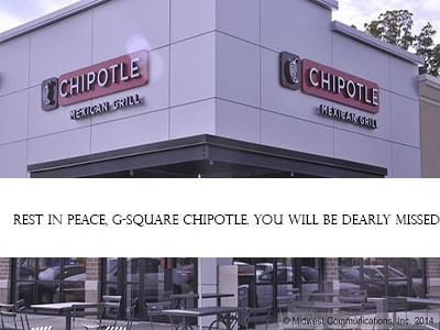 Chipotle in G-Square closes, is replaced by Ashley Furniture Homestore