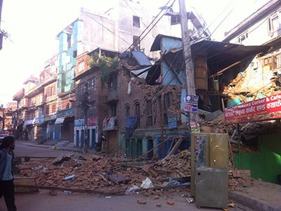 Earthquake in Nepal means destruction for many
