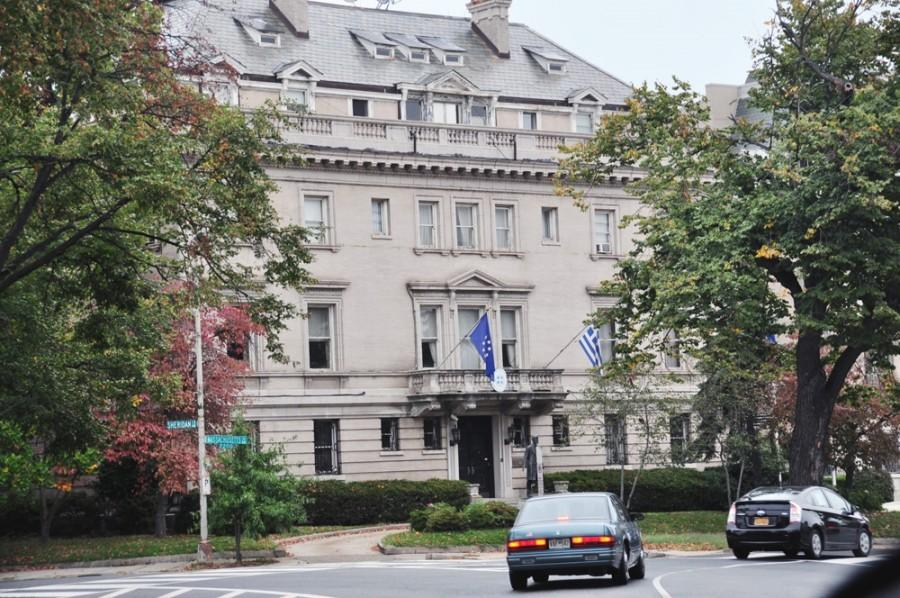 The wealthy Woodley Park neighborhood is where the Savopoulos family was murdered and is also home to dozens of embassies including the Embassy of Greece.
