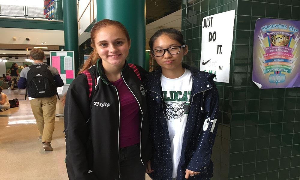 Students from WJ's sister school in China visit