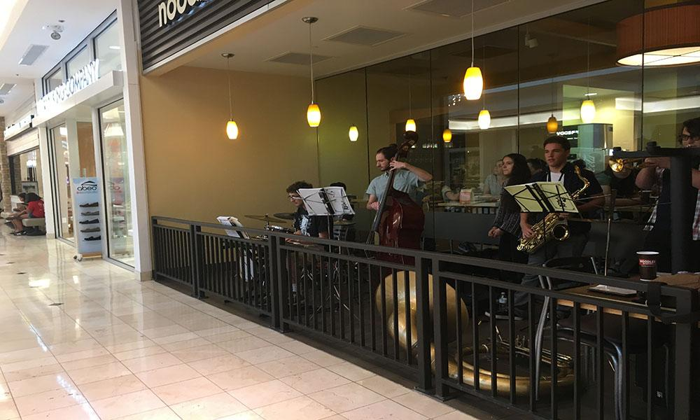 WJ music department fundraises, serenades at Montgomery mall