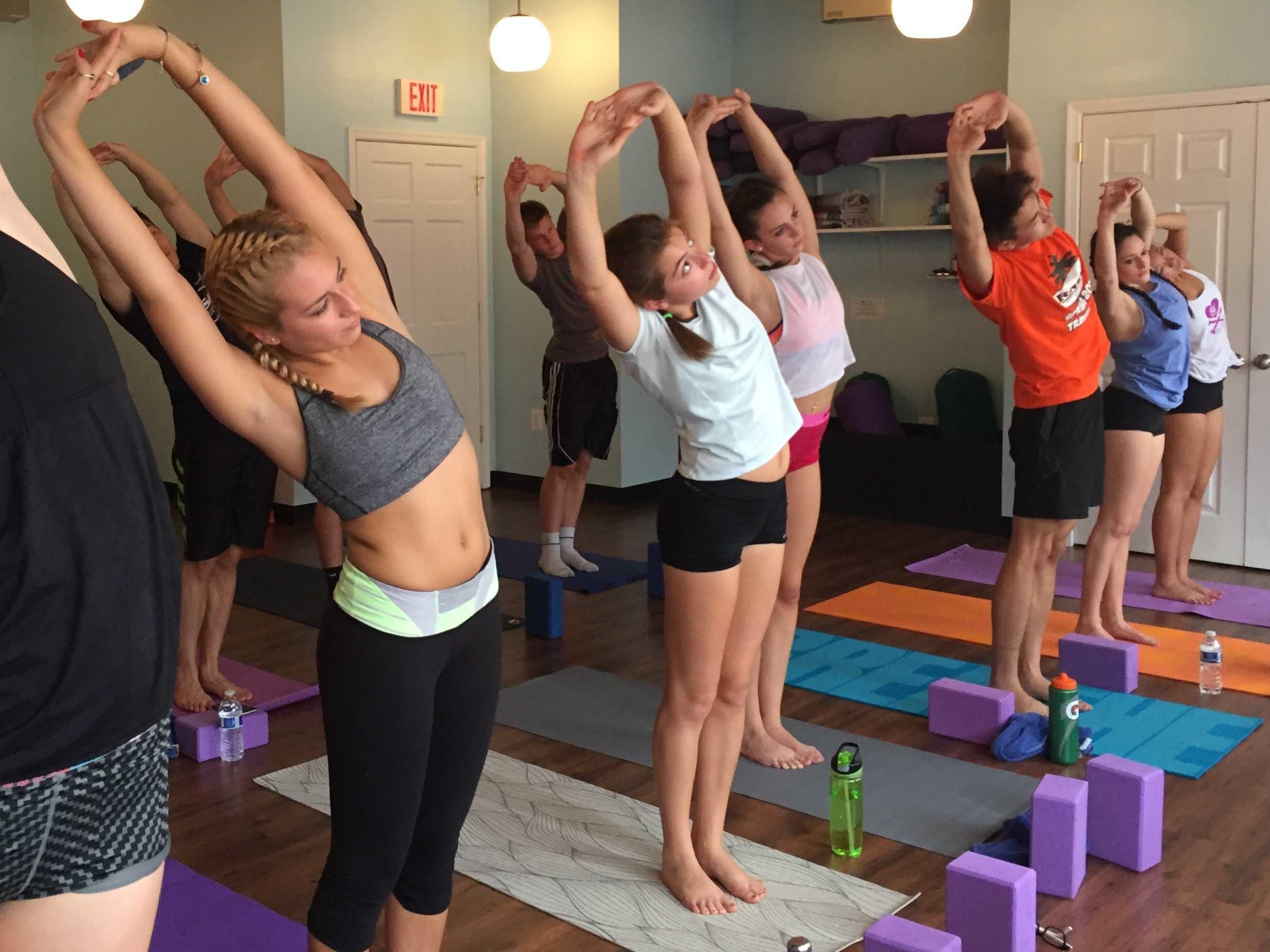 Yoga classes take field trip