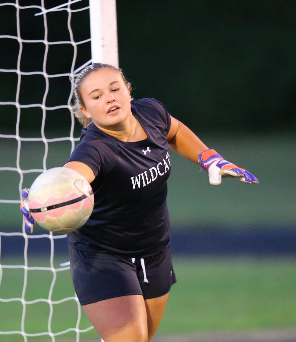 Soccer goalkeeper performs on and off field
