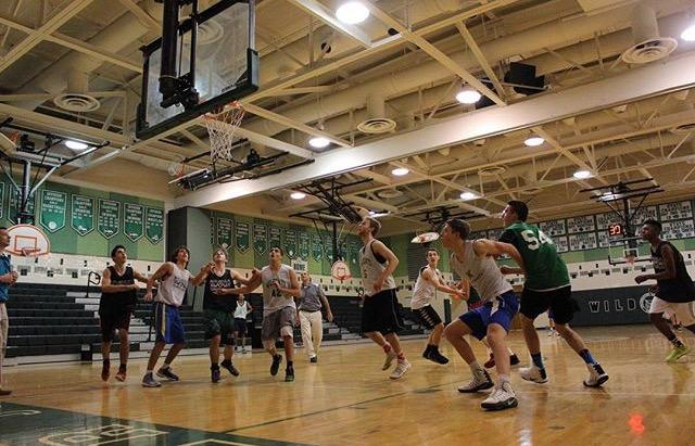 The+Boys+Basketball+team+practices+rebounding+as+they+prepare+for+their+next+game.+Photo+Courtesy+of+Alison+Druhan
