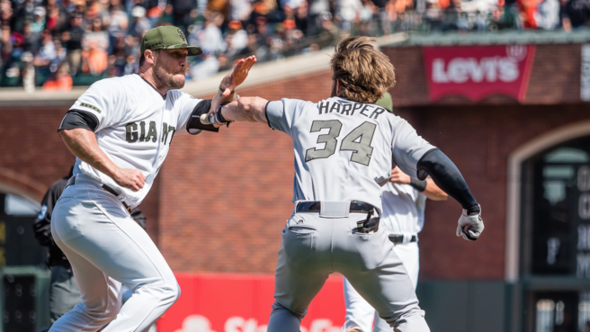Hunter Strickland and Bryce Harper suspended over baseball brawl