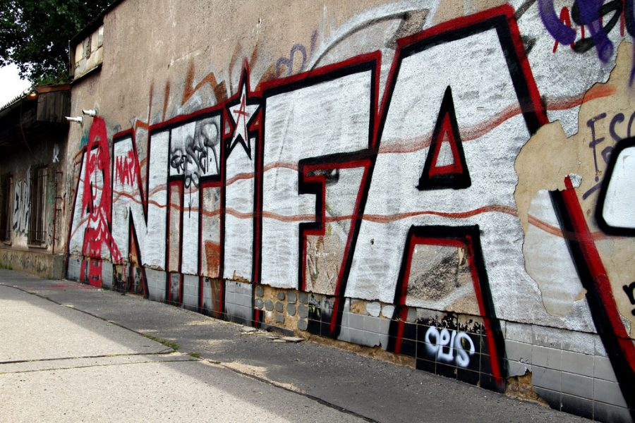 Antifa+emblazoned+on+a+wall+in+the+Czech+Republic.+Antifa%E2%80%99s+recent+violence+has+stirred+up+outrage+across+America.+Photo+courtesy+of+flickr.com