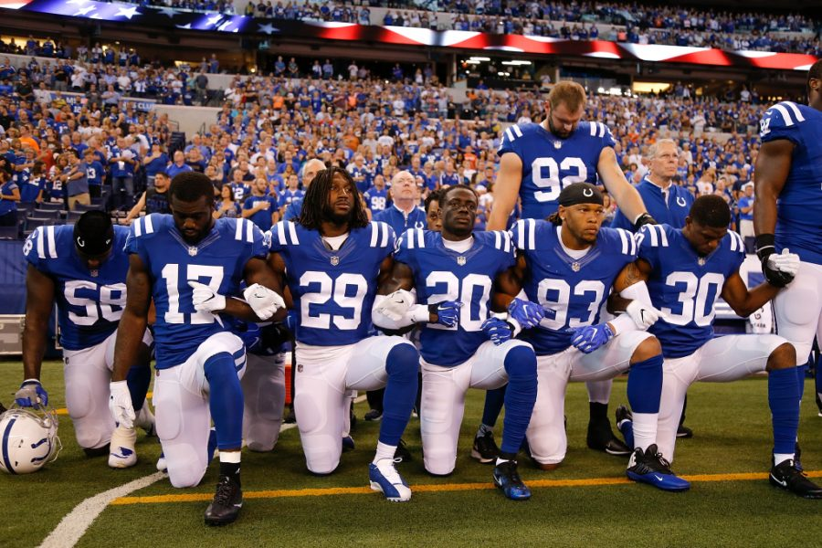The Indianapolis Colts were one of the many teams that knelt during the National Anthem.