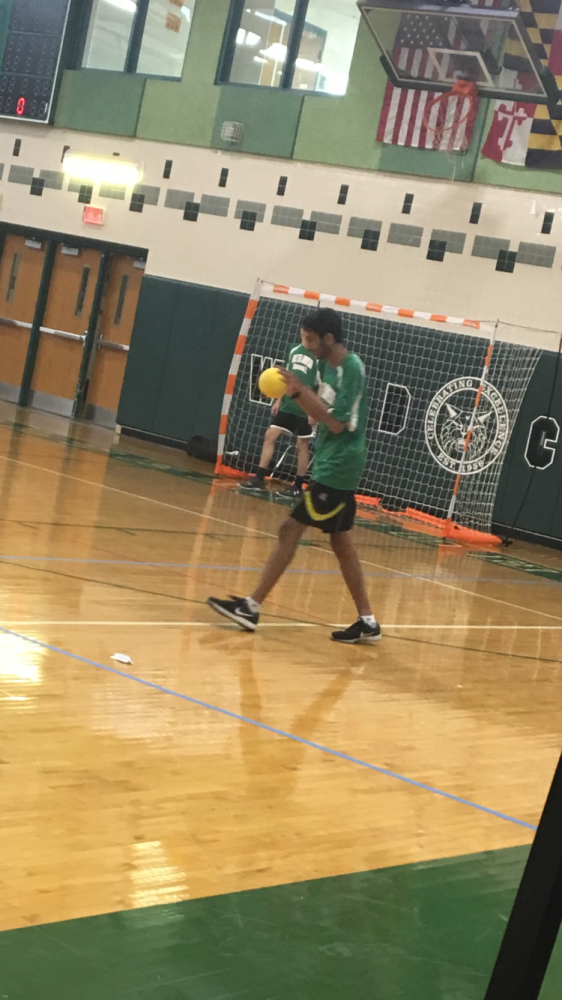 Handball adjusts in game against Wootton