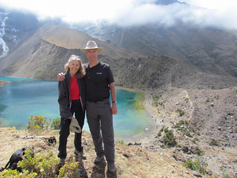 11th+grade+administrator+Janan+Slough+and+husband+Sam+Slough+marvel+atthe+gorgeous+view+of+the+Peruvian+mountains.+The+couple+spent+two+weeks+hiking+and+visiting+the+sites+that+Machu+Picchu+has+to+offer.+