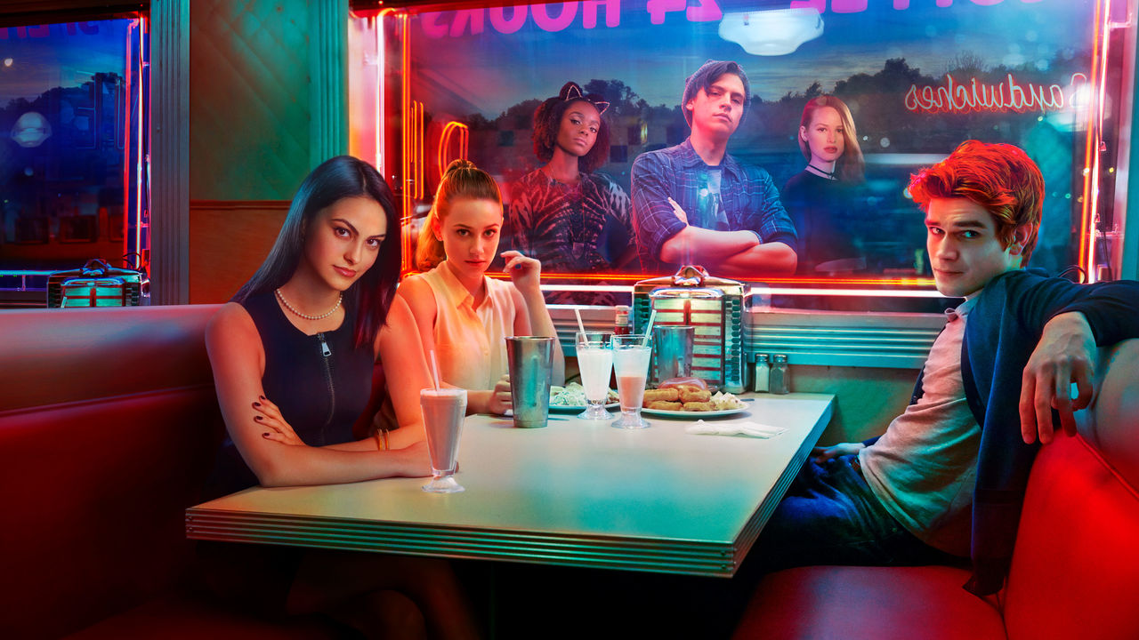 The main characters of Riverdale all hangout at Pops, a diner. The second season premiered on October 11, 2017 and is full of suspense and excitement.