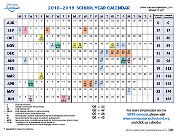 MCPS calendar change for 2018-2019 school year