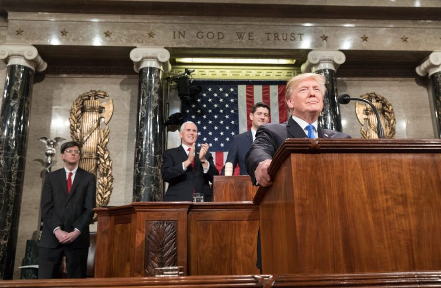 President Trump delivers his first State of the Union. Photo courtesy of Wikimedia Commons.