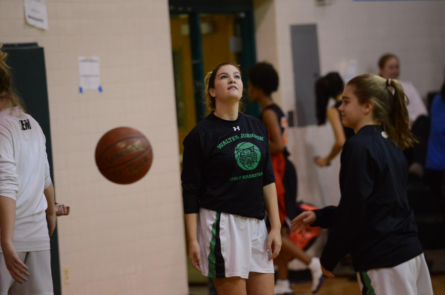 Senior Katherine Papadopulos is one of the catalysts to girls basketball. She's one of the two seniors on the team.