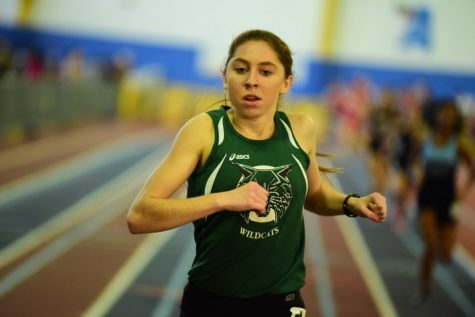 Star indoor track runner Abigail Green is leading the girls track team to victory. Photo Courtesy of Brandon Miles via MileSplit.com
