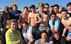 "Boys' baseball attends ""Polar Bear Plunge"" with their coach"