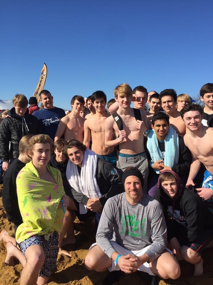 Boys baseball attends the annual Polar Plunge event in Maryland. Head coach Stephen Sutherland wanted the team to participate in more community service this year.