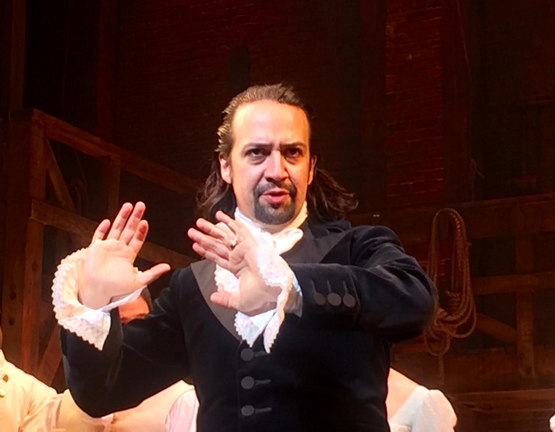 Composer and star of Hamilton Lin-Manuel Miranda. Miranda wrote and later starred as Hamilton.