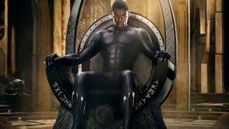 King T'Challa (Chadwick Boseman) sits upon his throne as the protector of Wakanda. The movie has grossed over one billion dollars since the release. Photo courtesy of Quartz.com.