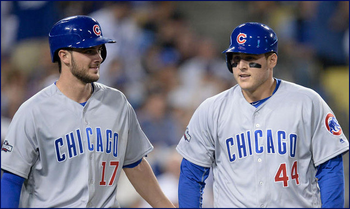 Cubs+infielders+Kris+Bryant+%2817%29+and+Anthony+Rizzo+%2844%29+are+the+cornerstones+of+the+Cubs+offense.+Rizzo+believes+that+there+are+too+many+baseball+games+during+a+season.+Courtesy+of+Ron+Cogswell.