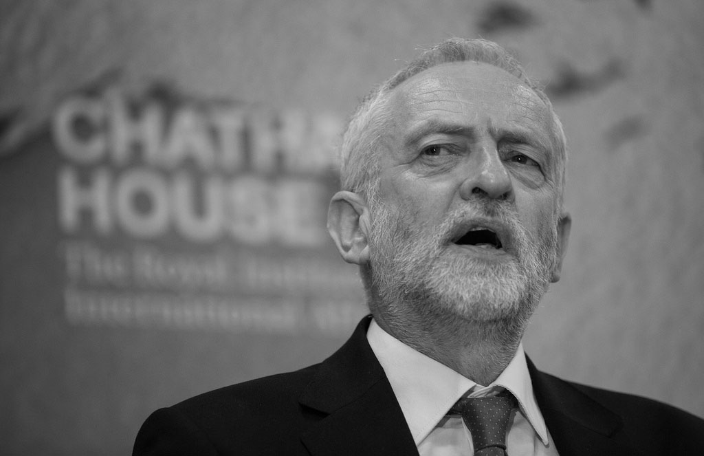 Jeremy Corbyn, leader of the Labour Party in Parliament, addresses an audience. Under Corbyn's stewardship, Labour has fostered a culture of anti-Semitism indicative of wider trends throughout international politics.  Photo courtesy of Chatham House.
