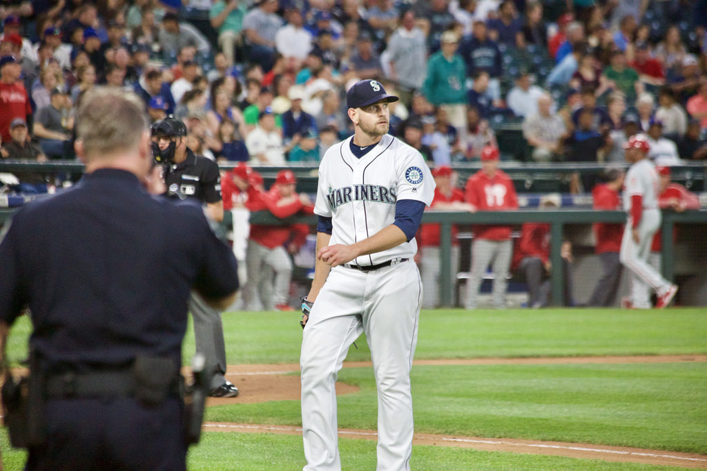 Mariners James Paxton has silently been one of the best starting pitchers in the past two years. He recently pitched a no hitter in his native Canada against Toronto. Photo courtesy by hj_west