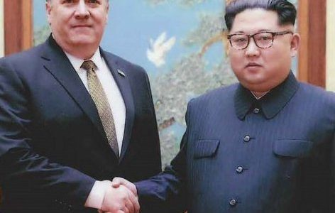 Mike Pompeo meeting with North Korean leader Kim Jong-Un. The Trump Adminsitration has been working on scheduling a summit with North Korea in hopes of denationalization. Photo courtesy of the White House.