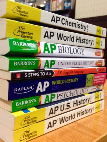 Students load up on AP classes in hopes to get into more competitive colleges. (Photo credit to grown and Flown)