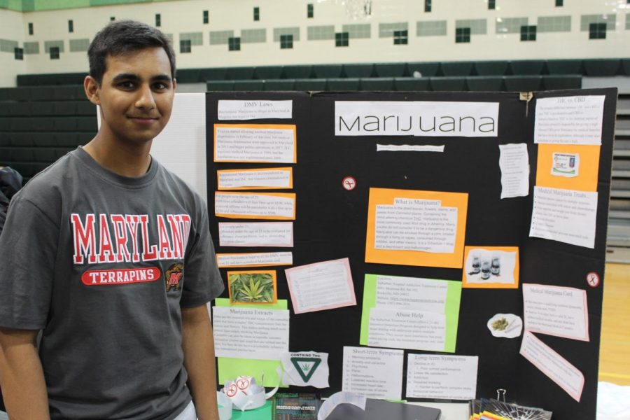 Senior+Ashwin+Kammula+presents+his+project+on+the+effects+of+marijuana+on+the+body+and+mind.