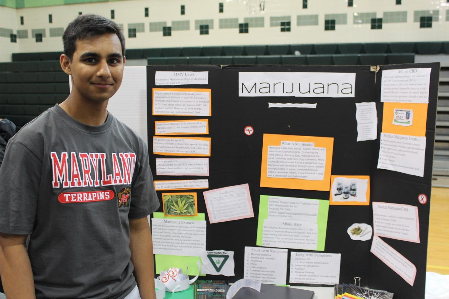 Senior Ashwin Kammula presents his project on the effects of marijuana on the body and mind.