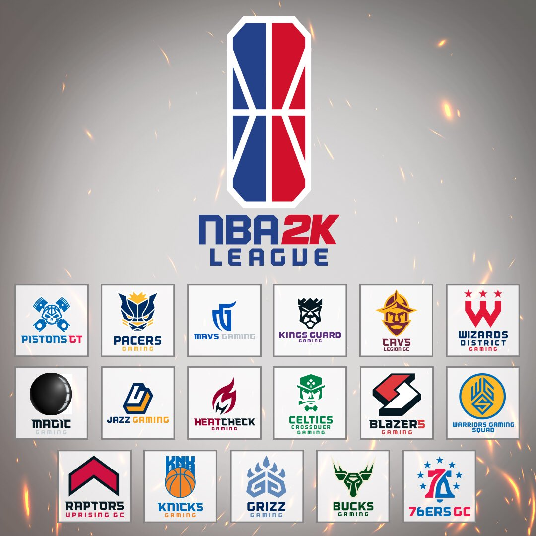 17 teams started the journey in the inaugural season of the NBA 2K League. Graphic courtesy of the NBA.