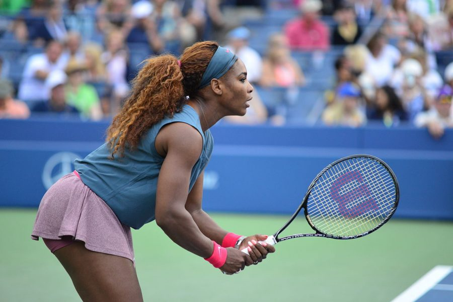 Serena+Williams+waits+to+hit+the+ball.+Serena+Williams+has+been+scrutinized+recently+over+how+she+reacted+to+a+call+during+the+2018+U.S.+Open.+