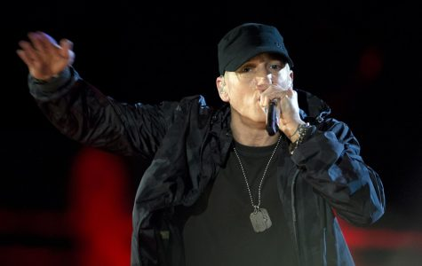 Rapper Eminem surprised fans by dropping his new album