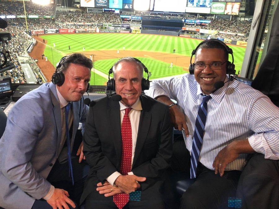 Kurkjian+%28center%29+called+the+September+19+Boston+Red+Sox+vs.+New+York+Yankees+game+on+ESPN.+Kurkjian%2C+who+graduated+from+WJ+in+1974%2C+has+worked+for+ESPN+since+1998.