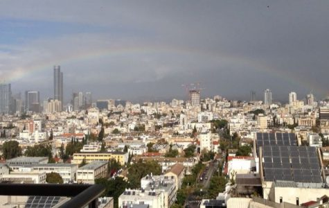 Givatayim. a suburb of Tel Aviv, as seen from a balcony. Tel Aviv is Israel's largest city and cultural center.