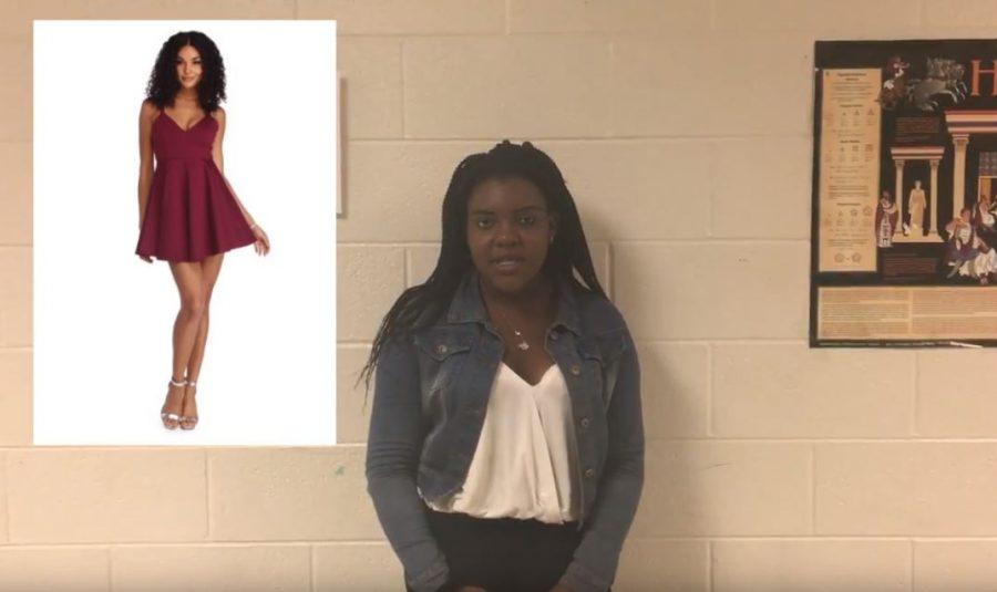 Students select Homecoming dress options