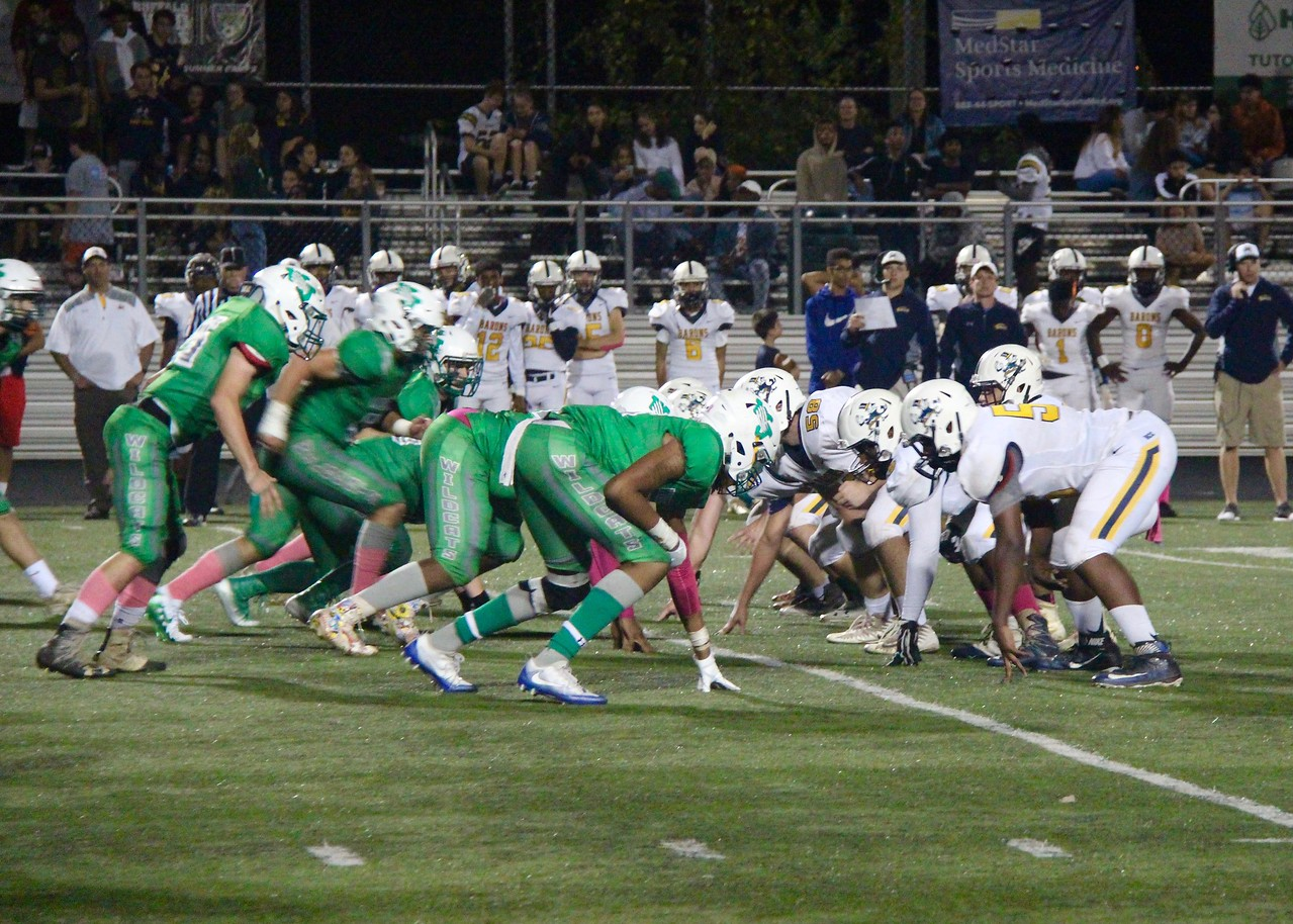 WJ's offense lines up for a snap. The team currently hold the third-ranked scoring offense in its division.