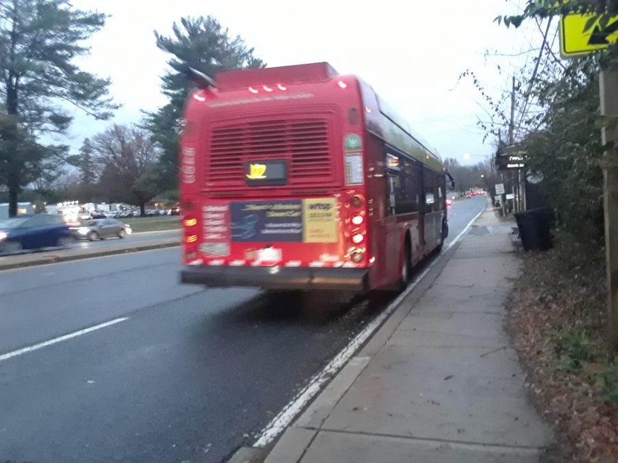 A+local+bus+leaves+a+shelter+along+Old+Georgetown+Road.+Buses%0Asuch+as+this+are+plagued+by+traffic+delays%2C+a+problem+which%0Awould+be+alleviated+by+dedicated+bus+lanes.+