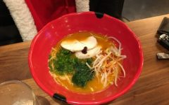 This is the spicy chicken ramen dish. Jinya is a new restaurant in Pike and Rose.