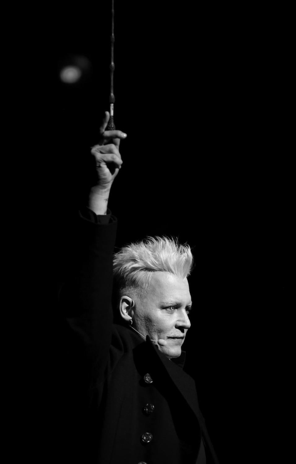 Johnny Depp as the Gellert Grindelwald, in the new Harry Potter prequel, 'Crimes of Grindelwald.' The movie, written by J.K. Rowling and directed by David Yates, is the second out of five Fantastic Beasts movies to be created.