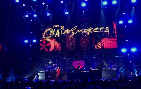 The Chainsmokers please their crowd at the 2017 Jingle Ball concert with their bright lights and EBM hit songs. They will perform again this year at Jingle Ball in DC.