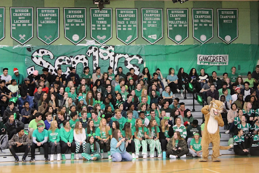 WJ seniors enjoy the performances at this year's winter pep rally. Many students catch senioritis during their last year of high school, struggling to find motivation once they are accepted into colleges.