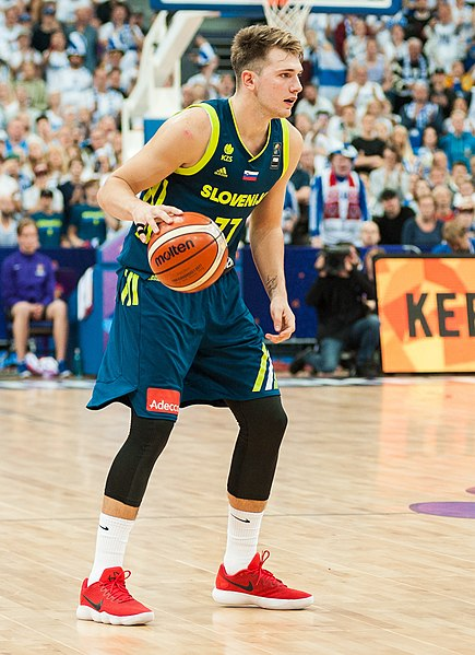 Mavericks guard Luka Doncic playing for Real Madrid in 2017. The rookie has impressed                                                                                                                                                                     everyone with his crafty play this season.