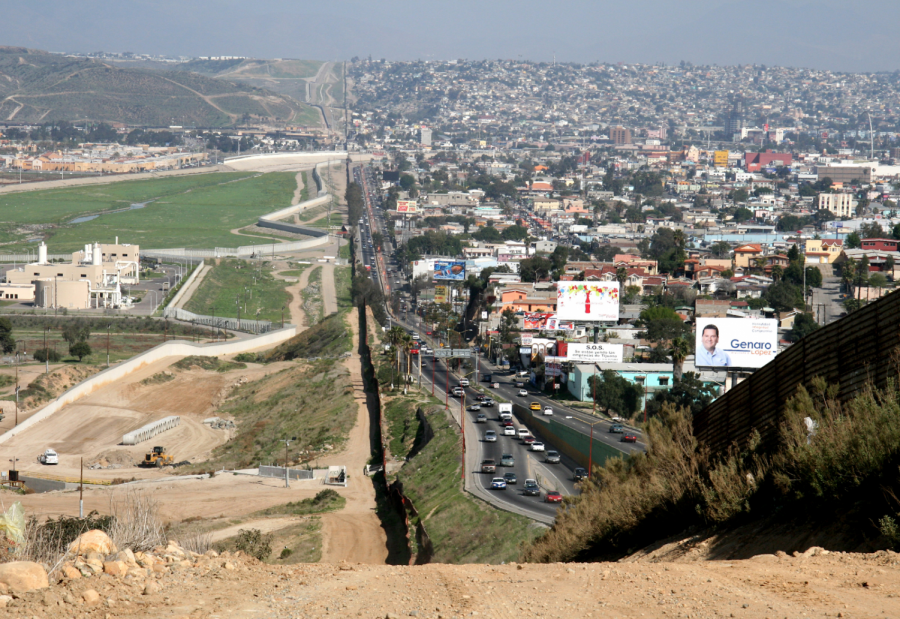 Here+is+a+miles-long+stretch+of+the+border+between+San+Diego%2C+California+and+Tijuana%2C+Mexico.+Many+southern+central+Americans+attempt+to+cross+this+border+every+year+in+hopes+of+a+new+life+in+America.